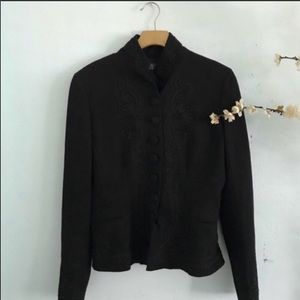 Polo Ralph Lauren black embroidered black size 8